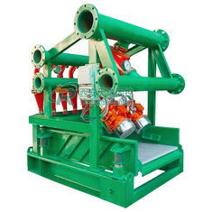 "China 4"" Desilter Cones 240m3/h Mud Cleaning Equipment with Bottom Shale Shaker supplier"