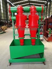 Compact Oil Drilling Mud Desander With Bottom Shale Shaker DN125mm Inlet Diameter