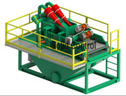 China Double Layers Bored Pile Construction Drilling Mud System Vibration Motor Supported factory