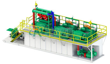 China API Standard 200 GPM Drilling Mud Treatment And Disposal System with 4 Hydrocyclones distributor